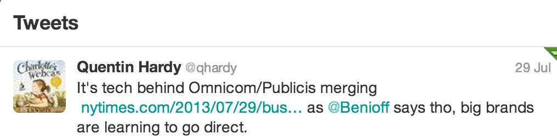 Tweet Publicis Omnicom Merge