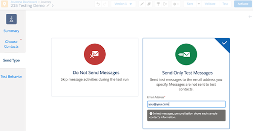Testing Demo Marketing Cloud Release 18