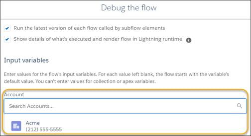 Debug the flow sales cloud
